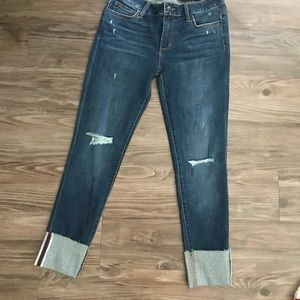 Joe's Jeans midrise raw hemmed cuffed medium wash